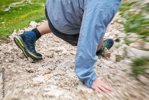 Foto  Sportunfall beim Wandern