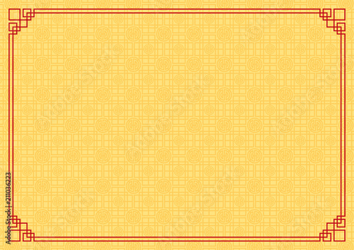 chinese new year background abstract oriental wallpaper yellow square window inspiration vector illustration
