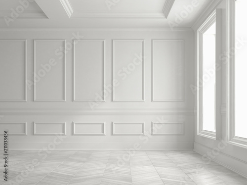 Carta da parati Interior empty room 3D rendering