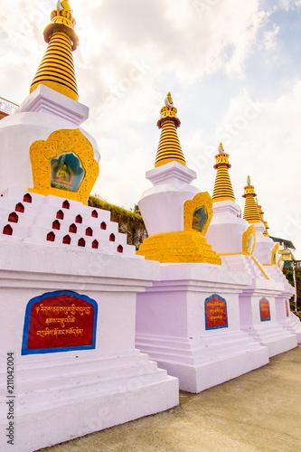 Foto op Plexiglas Bedehuis A temple in Darjeeling, the Indian state of West Bengal