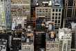 Aerial view of the architecture of Manhattan, New York, NY, United States of Americs