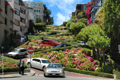 Photo  Lombard street, San Francisco