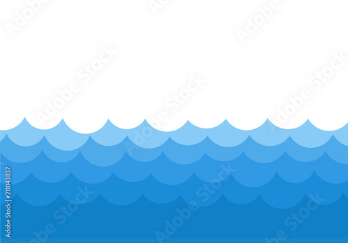 ocean waves template background vector stock illustration buy