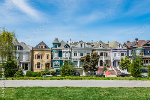Foto op Plexiglas Amerikaanse Plekken Painted Ladies of San Francisco, California, USA.