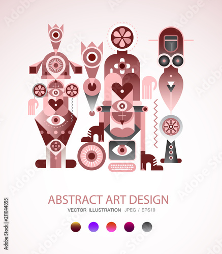 Tuinposter Abstractie Art Abstract Art Design vector illustration