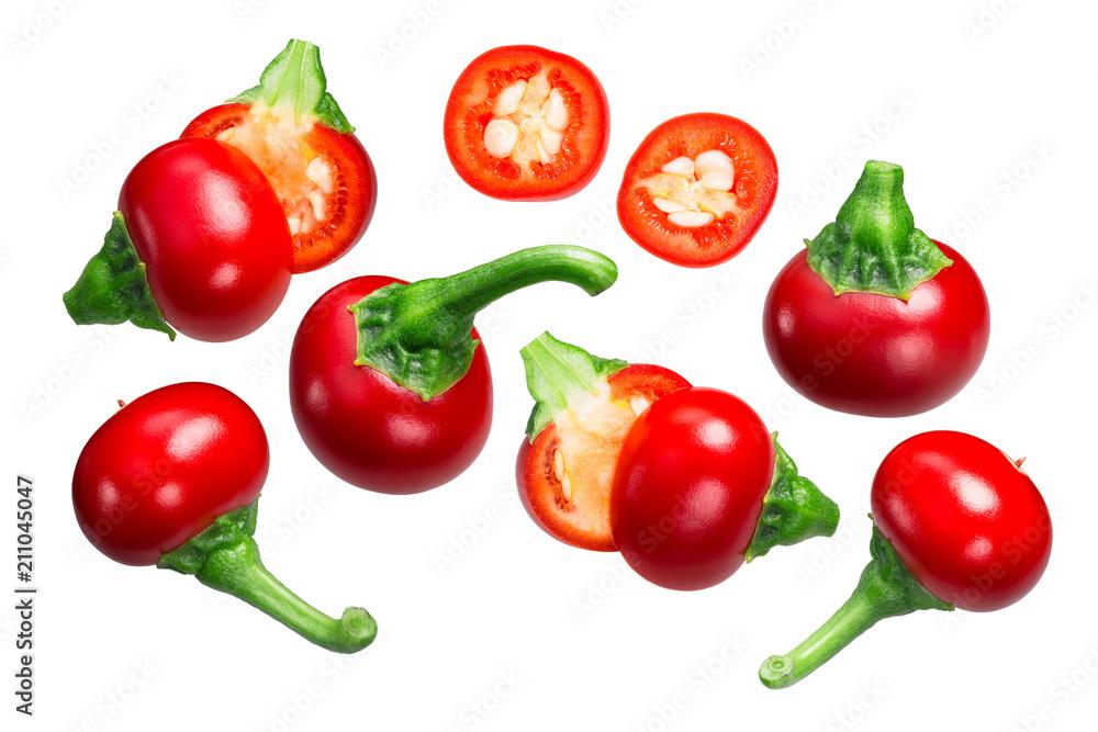 Fototapeta Koral Cseresznye paprika cherry peppers, paths