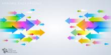 Arrows Background #Vector Grap...