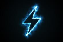 Burning Blue Flame Lightning S...