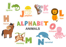 Alphabet With Animals H To O  ...
