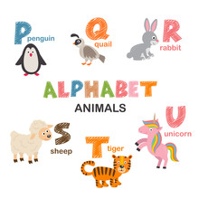 Alphabet With Animals P To U  ...