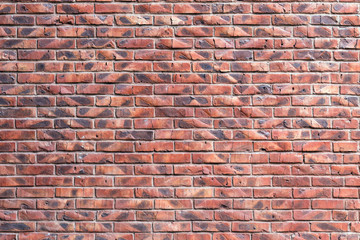 NaklejkaStone wall of old red brick, texture