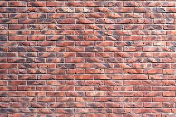 Naklejka Do salonu Stone wall of old red brick, texture