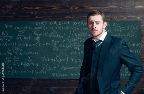Canvas Print Talented mathematician