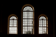 Arched Windows In The Old Church Church