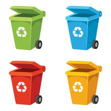 Vector Illustration Of Recycli...