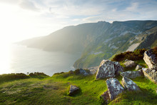 Slieve League, Irelands Highest Sea Cliffs, Located In South West Donegal Along This Magnificent Costal Driving Route.