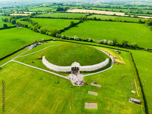 Tela Newgrange, a prehistoric monument built during the Neolithic period, located in