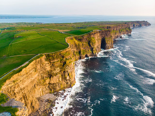 FototapetaWorld famous Cliffs of Moher, one of the most popular tourist destinations in Ireland.