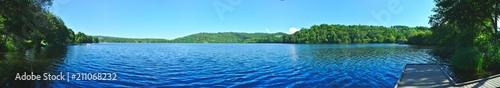 Fotografia vue panoramique du lac d'Aydat, Auvergne, Puy-de-Dome