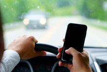 Don't Text And Drive ! A Man I...