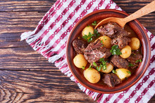 Hot Beef Stew In A Bowl