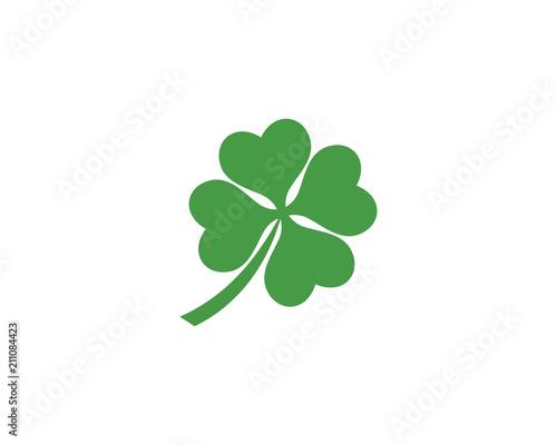 Obraz na płótnie Green Clover Leaf Logo Template