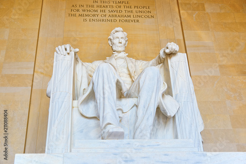 Photo  Washington, USA, Monument for Abraham Lincoln.