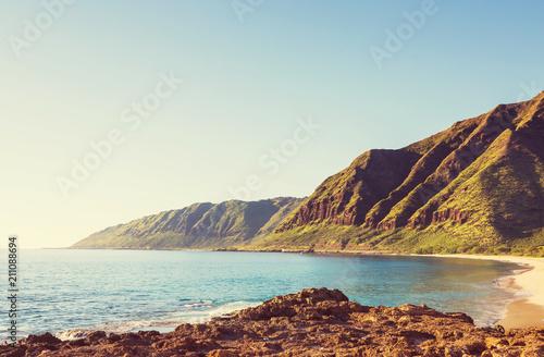 In de dag Oceanië Oahu