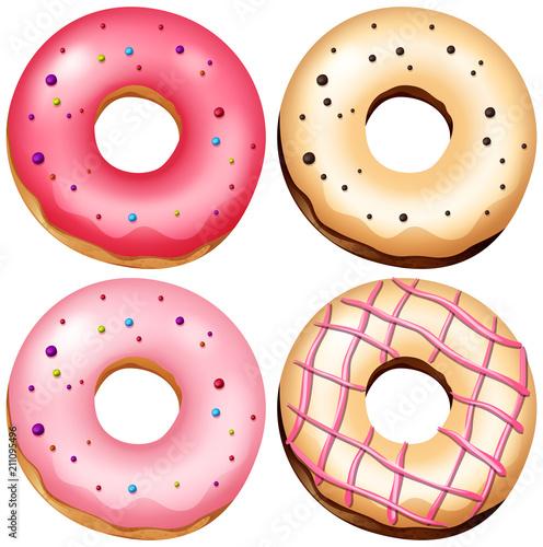 Fototapeta A Set of Delicious Donut obraz