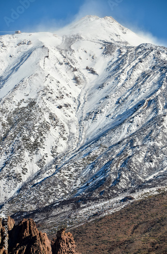 Deurstickers Canarische Eilanden Desert Landscape in Volcan Teide National Park