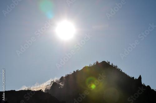 Tuinposter Canarische Eilanden Desert Landscape in Volcan Teide National Park