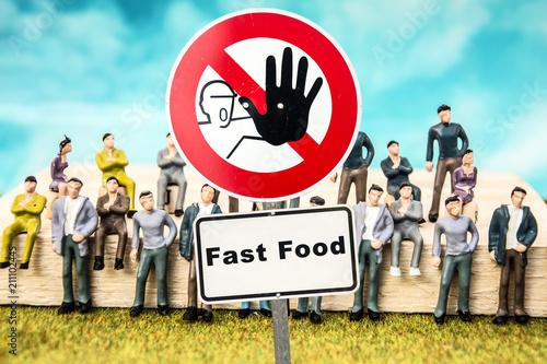 Fotografie, Obraz  Schild 324 - Fast Food