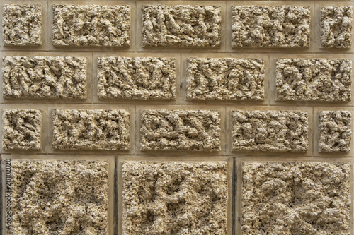 Photo Background of old wall texture, traditional Mallorcan ashlars
