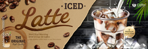Iced latte banner ads Canvas Print