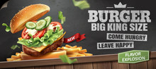 Deluxe King Size Burger Ads