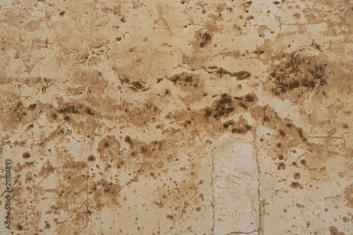 Poster Betonbehang Surface of the old concrete wall. Weathered stucco background