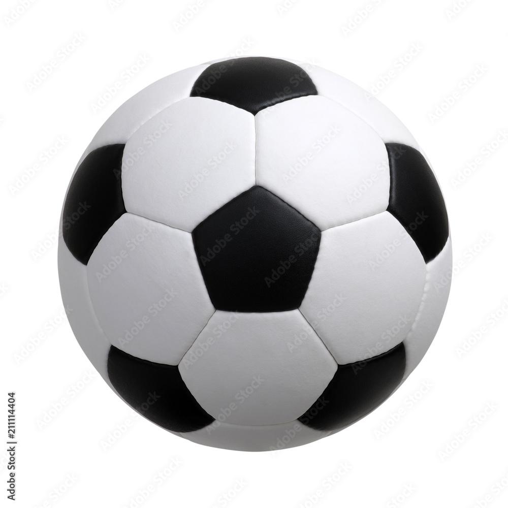 Fototapety, obrazy: soccer ball on white