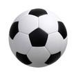 Leinwandbild Motiv soccer ball on white