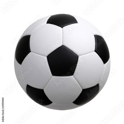 soccer ball on white Wallpaper Mural