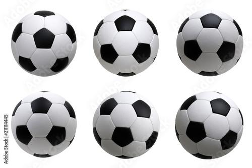 Fotografia soccer ball on white