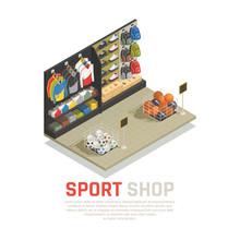 Sport Shop Isometric Composition