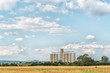 canvas print picture - Grain silos in Dewetsdorp in the Free State