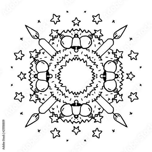 mandala adventskranz stockvektorgrafik  adobe stock