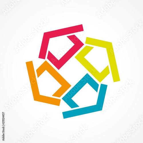 logo concept Canvas Print