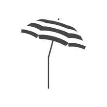 Vector Beach Umbrella Icon, Pa...