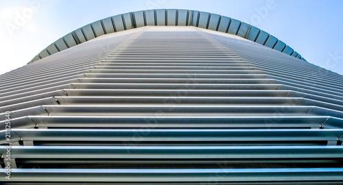Poster Stad gebouw corrugated steel