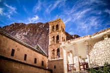 The 6th Century, UNESCO-listed St Catherine's Monastery At The Foot Of Mt Sinai In Egypt's Sinai Peninsula. One Of The Oldest Still-functioning Christian Monasteries In The World.