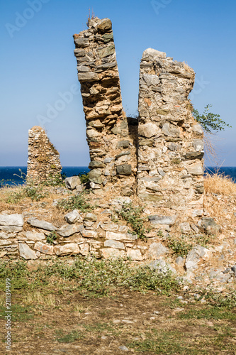 Foto op Aluminium Rudnes Ruins of the Ancient Roman City Anemurium in Anamur, Turkey