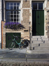 Bicycle At Old House Bruges Be...