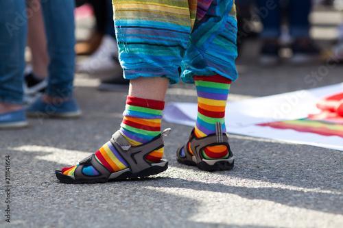 Fotografía  rainbow symbol at pride parade